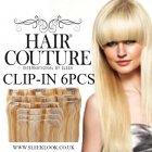 "Full Head 6pcs Clip Ins 18"" Human Hair"