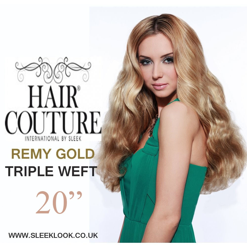 Sleek Hair Couture Remy Gold Triple Weft Extensions 150g