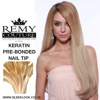 REMY COUTURE KERATIN PRE-BONDED REMI HAIR by Sleek REMY COUTURE PREBONDED